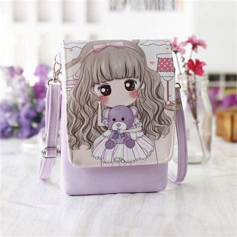 tas selempang mini girl cartoon bag purple