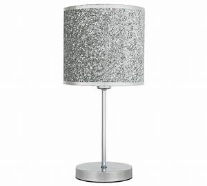 buy home sparkling table lamp silver at argoscouk With silver glitter floor lamp
