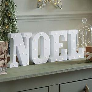 noel battery light up circus letters warm white leds With noel lighted letters