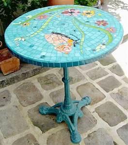 Table Mosaique Jardin : mobilier mosaique decoration mosaique mozaic toone pour votre decoration d interieure ~ Teatrodelosmanantiales.com Idées de Décoration