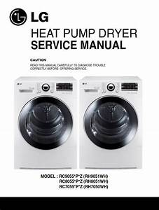 Lg Rc8055ap3z Dryer Service Manual And Technical