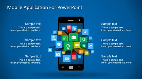 Free Apps For Mobile by Mobile Apps Metaphor Clipart For Powerpoint Slidemodel