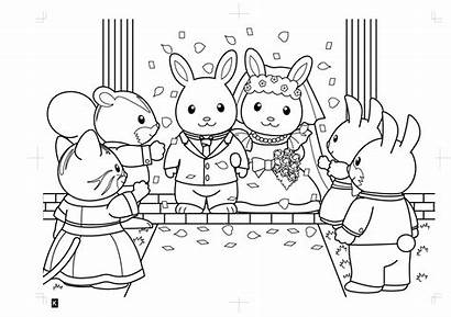 Sylvanian Families Coloring Calico Critters Coloriage Colouring