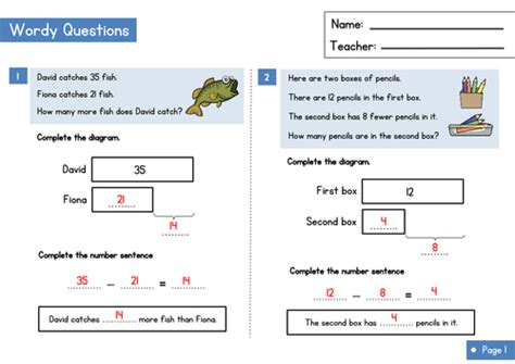 Bar Modelling Worksheet  Comparison Model Questions By Wrmathshub  Teaching Resources Tes