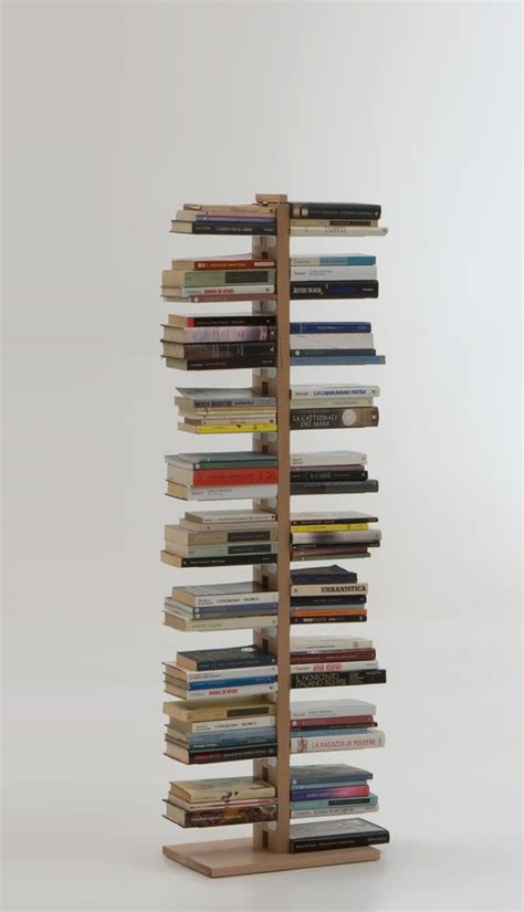librerie a colonna zia bice libreria a colonna da terra in legno naturale 160 cm