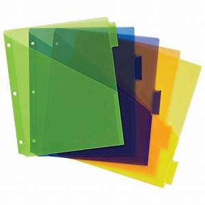 avery big tab insertable plastic dividers with pockets 5 With avery binder dividers 5 tab