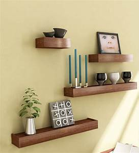 Mango Wood Set of 4 Shelves by Market Finds Online - Wall