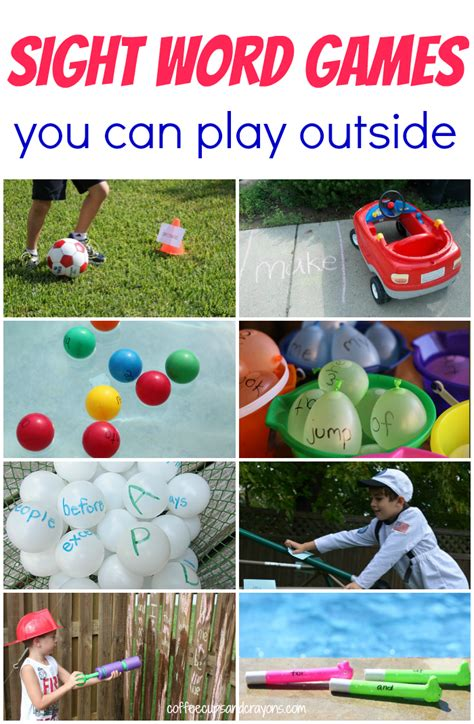 Sight Word Games To Play Outdoors  Coffee Cups And Crayons