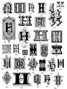 Victorian Decorative Letter H