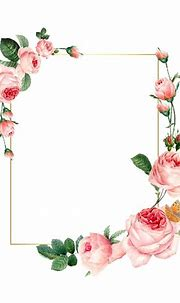 Download premium vector of Blank rectangle pink roses ...