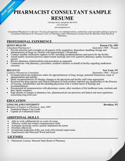 sle resume pharmacist sle resume