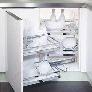 amenagement meuble d39angle pivotant coulissant accessoires With amenagement meuble d angle cuisine