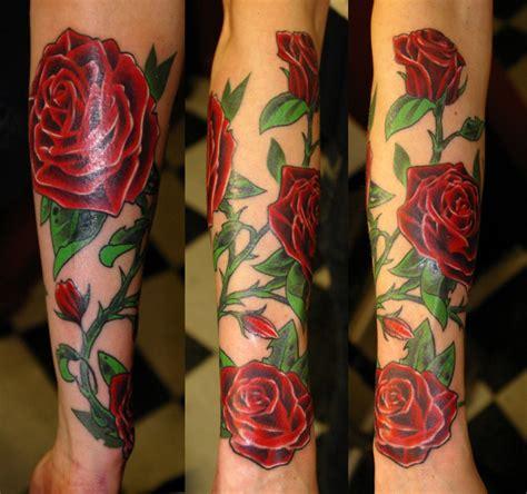 meaning  rose tattoo black blue purple