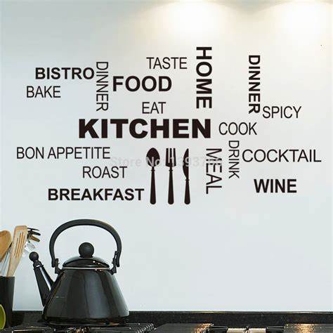 poster mural pour cuisine kitchen wall quotes food wall stickers diy vinyl adesivo de paredes home decals posters