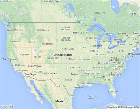 Amerikas Savienotās Valstis - ģeogrāfiskā karte