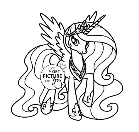 Kleurplaat My Pony Princess by Princess Celestia Coloring Page Coloring Home