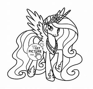 Princess Celestia - My little pony coloring page for kids ...