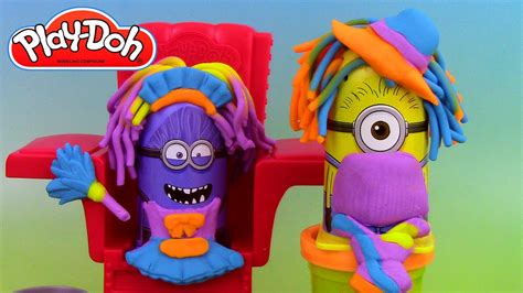 p 226 te 224 modeler le coiffeur minions disguise lab play doh