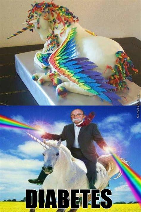 Unicorn Rainbow Meme - rainbow unicorn cake by theunchosedone meme center