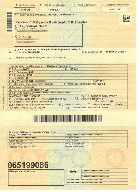 connaitre modele de voiture avec sa carte grise carte grise belge aide pour acheter une voiture en belgique