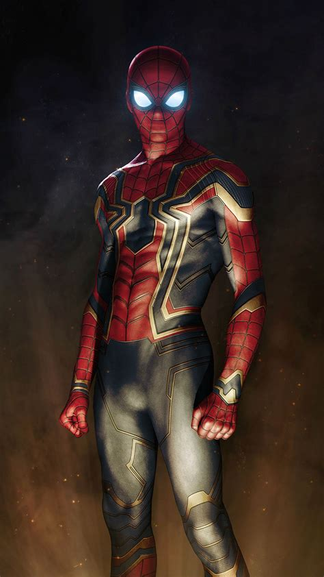 iron spiderman suit avengers iphone wallpaper iphone