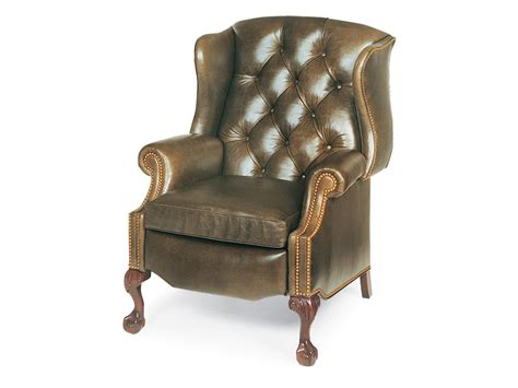Walter Smith Furniture by Sterling Tufted Wing Chair Power Recliner 1013 Pr