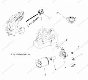 Polaris Side By Side 2015 Oem Parts Diagram For Engine  Oil Filter  U0026 Dipstick