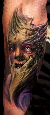 men beast tattoo   arm