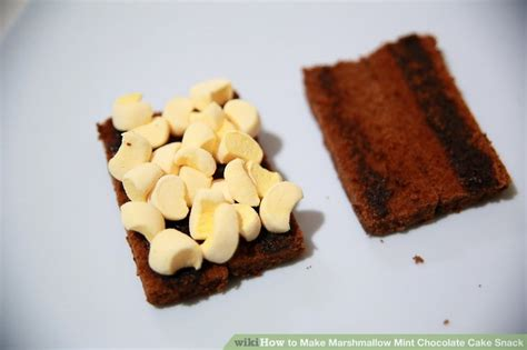 marshmallow mint chocolate cake snack  steps