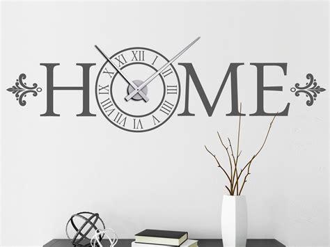 Große Uhr Wand wandtattoo uhr mit schrift home wandtattoo