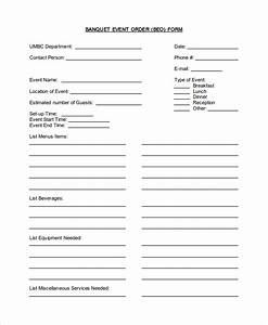 Banquet event order form template pictures to pin on for Banquet event order form template