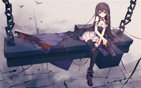 Anime Gun Wallpaper - anime gun unbreakable machine doll yaya birds