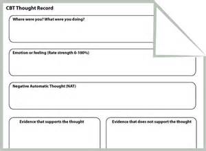 CBT Thought Record Worksheet for Anxiety