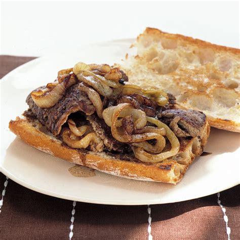 steak  onion sandwiches recipe martha stewart