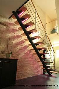 Kit Led Escalier : deco led eclairage id es d co pour les escaliers ~ Melissatoandfro.com Idées de Décoration