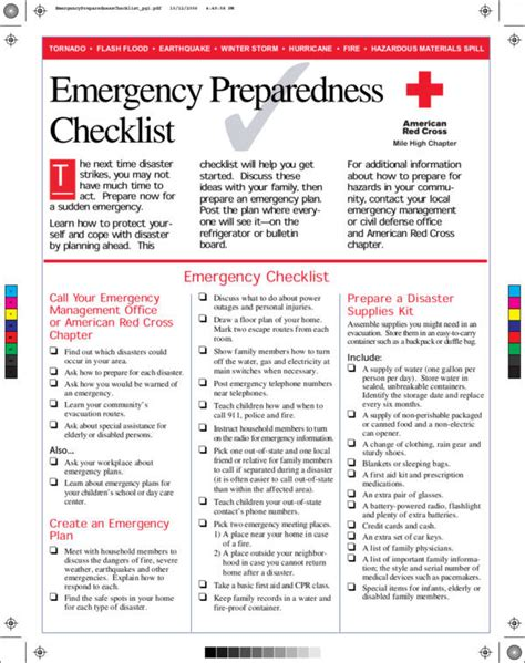 Emergency Response Checklist Template by Emergency Response Checklist Template Images Template
