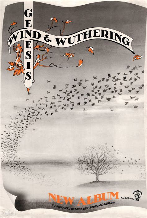 album poster genesis wind  wuthering charisma