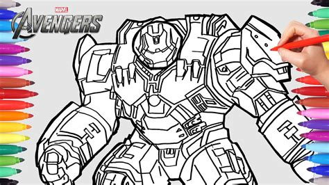 avengers hulkbuster coloring pages coloringpages