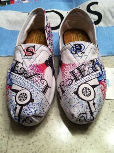 comfortable shoes for hairstylists custom painted hair stylist toms shoes by