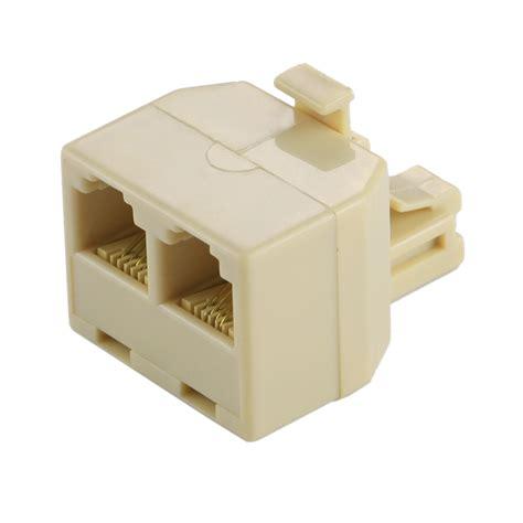 rj dual ports desktop telephone extension cable extender