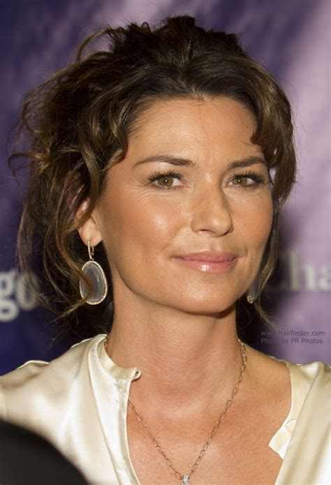 shania twain curled updo   hair pulled