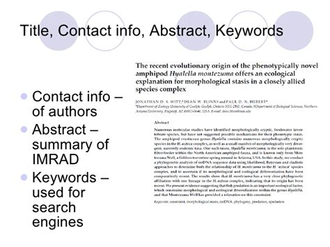 scientific writing format imrad
