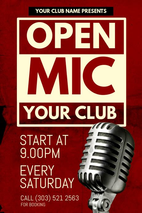 foto de Open Mic Poster Template PosterMyWall