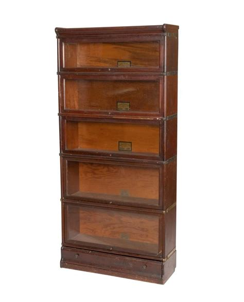 Mahogany Barrister Bookcase by Globe Wenicke Mahogany Barrister Bookcase