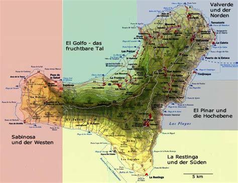 el hierro landkarte und sehenswuerdigkeiten kanaren