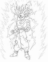 Gohan Cell Coloring Ssj2 Deviantart Saga Sketch Template Larger Credit sketch template