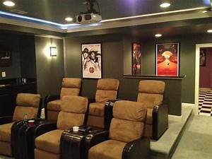 Basement Custom Theater  Ashburn  With Images