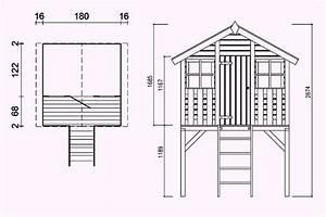 Stelzen Selber Bauen : stelzenhaus kai 190x180x288 cm aus unbehandeltem holz ~ Lizthompson.info Haus und Dekorationen