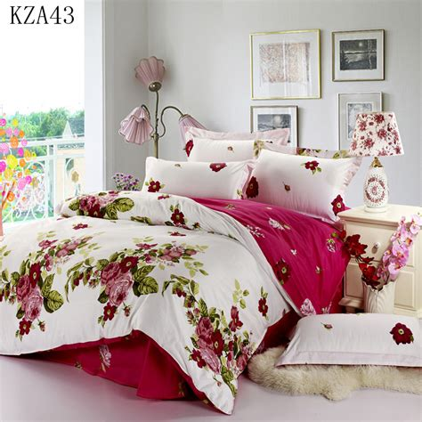 Beautiful Bed Cover Sets by Beautiful Flower Pattern Bedding Set 4pcs 100 Cotton