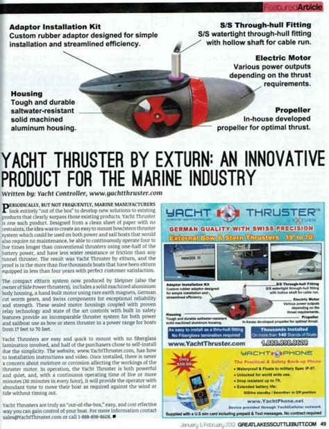 Yacht Thruster by 39 Best Yacht Thruster External Bow Thrusters Stern